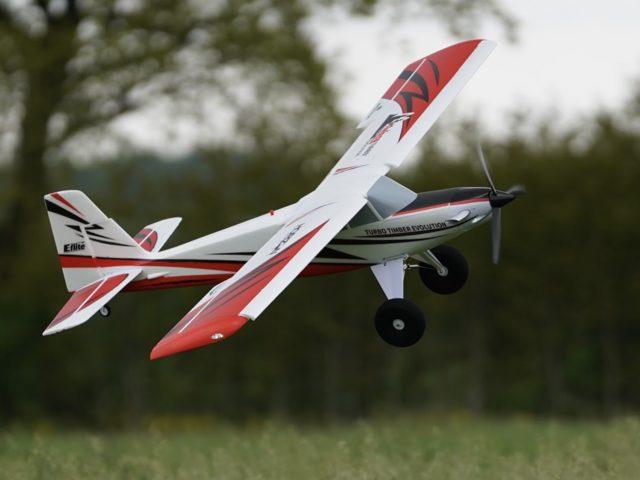 STOL-Trainer Turbo Timber Evolution von Horizon Hobby im Take-off von FlugModell – Kurzvorstellung