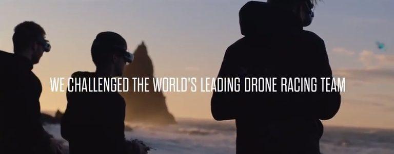 Drohnen-Challenge auf Island