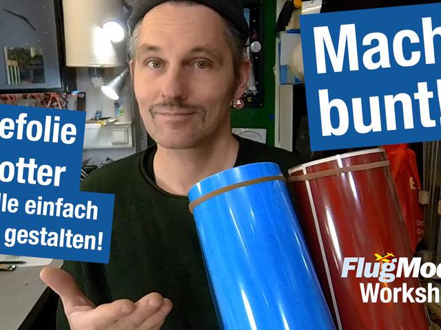 Workshop: Mit Klebefolie & Schneidplotter Flugmodelle ganz einfach selbst gestalten