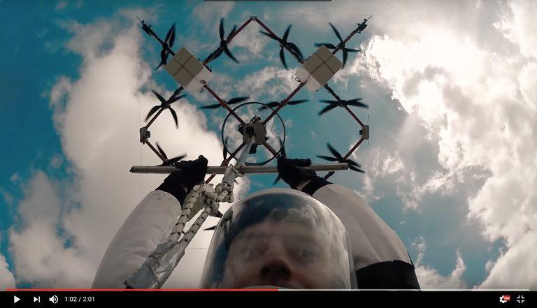 Drone-Diving – Fallschirmsprung von Drohne