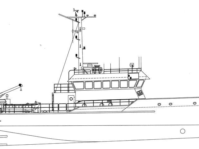 Vermessungsschiff JADE bei Modellbau Sievers