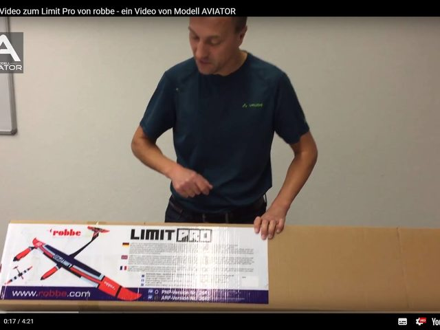 Unboxing-Video zum Limit Pro von robbe