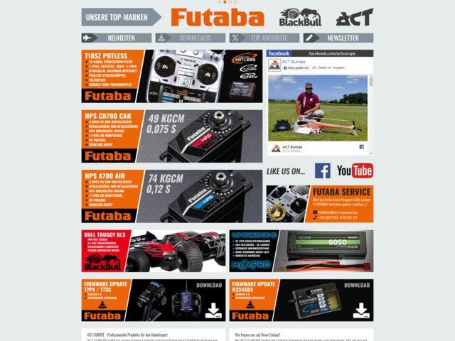 ACT Europe übernimmt Service für Futaba-Produkte