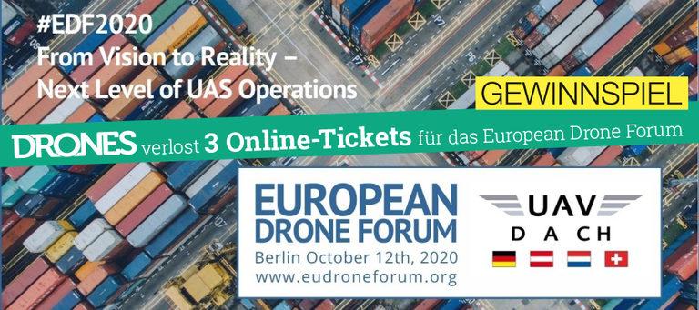 Gewinnspiel: Tickets zum European Drone Forum