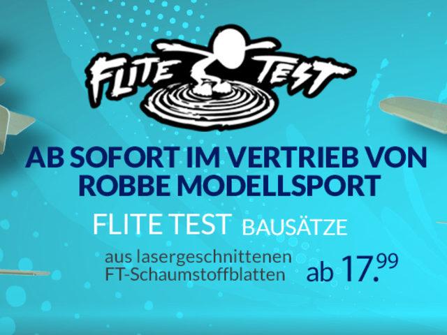 FliteTest jetzt über robbe im Fachhandel erhältlich