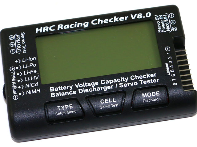 V8.0 Akku-Checker von HRC Distribution
