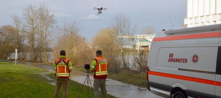 Johanniter finden vermisste Person mit Drohne