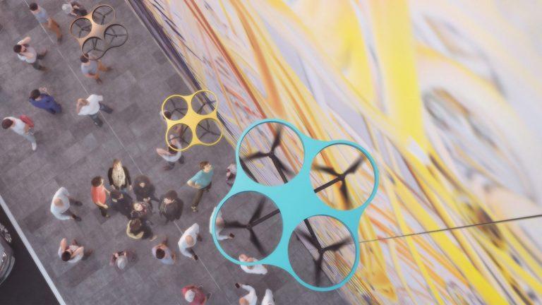 Fassadengestaltung per Drohne
