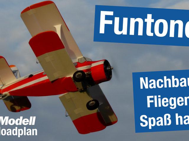 Funtonov, ein Doppeldecker als Downloadplan aus FlugModell 3/2021