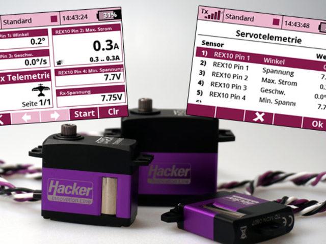 Ditex-Servotelemetrie für Jeti-Sender