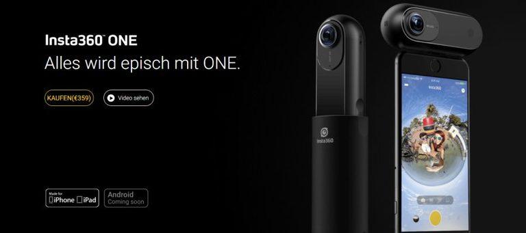Insta360 bringt die 360-Grad-Kamera ONE mit 4K-Auflösung auf den Markt
