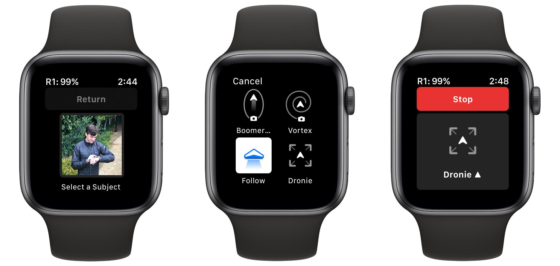 Drohnensteuerung per Apple Watch