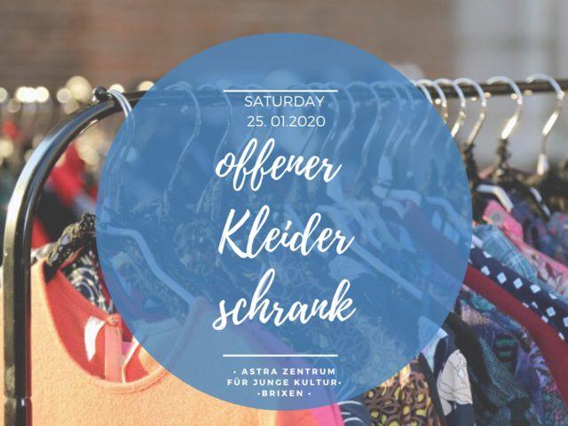 Schluss mit Fast-Fashion! Offener Kleiderschrank – 25.01. im Astra in Brixen