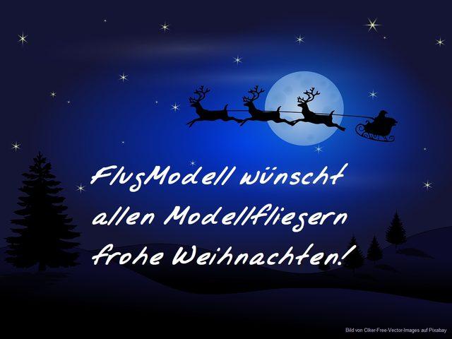 FlugModell wünscht frohe Weihnachten!