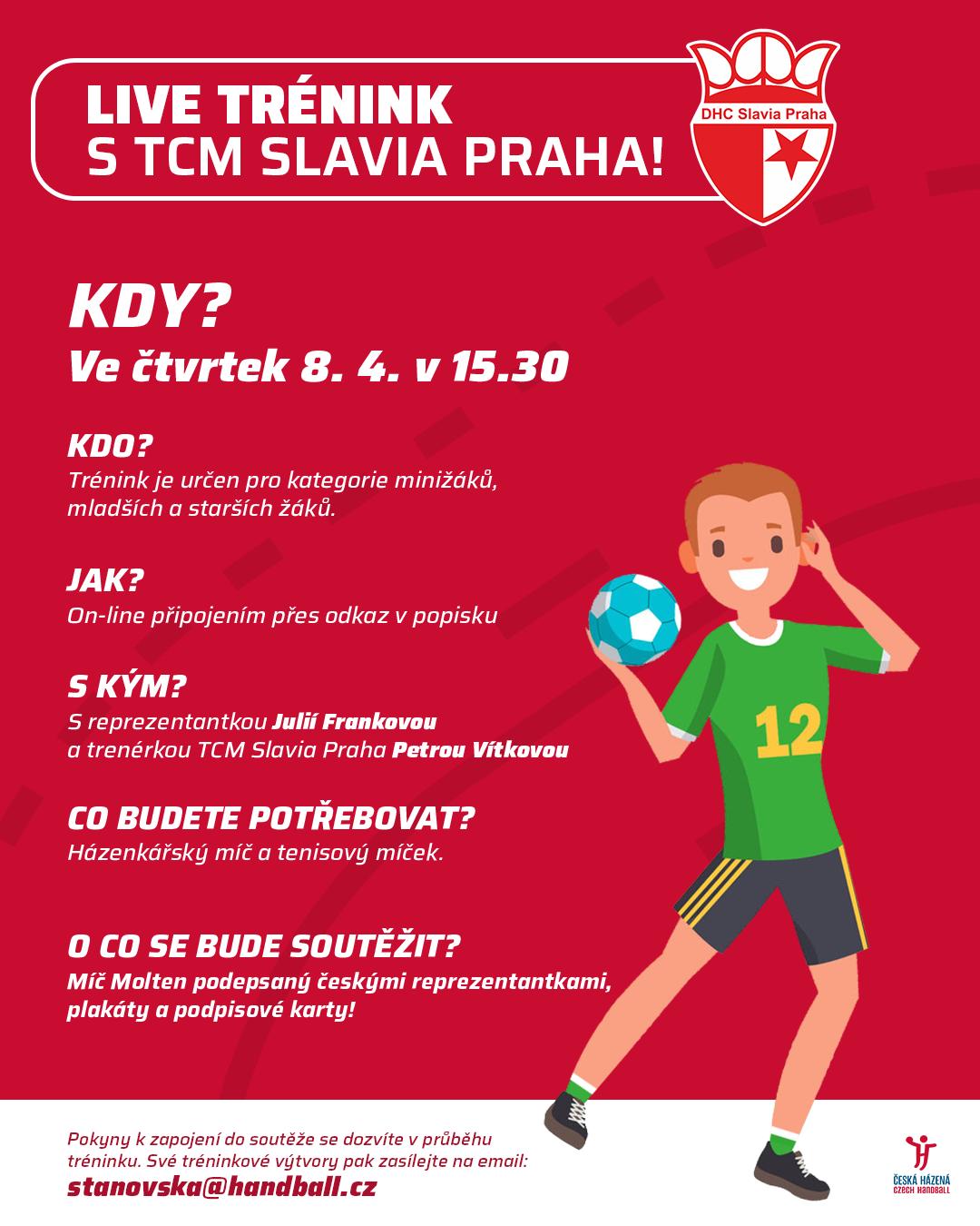 Live trénink 2 – tentokrát s TCM Slavia Praha a reprezentantkou Julií Frankovou!