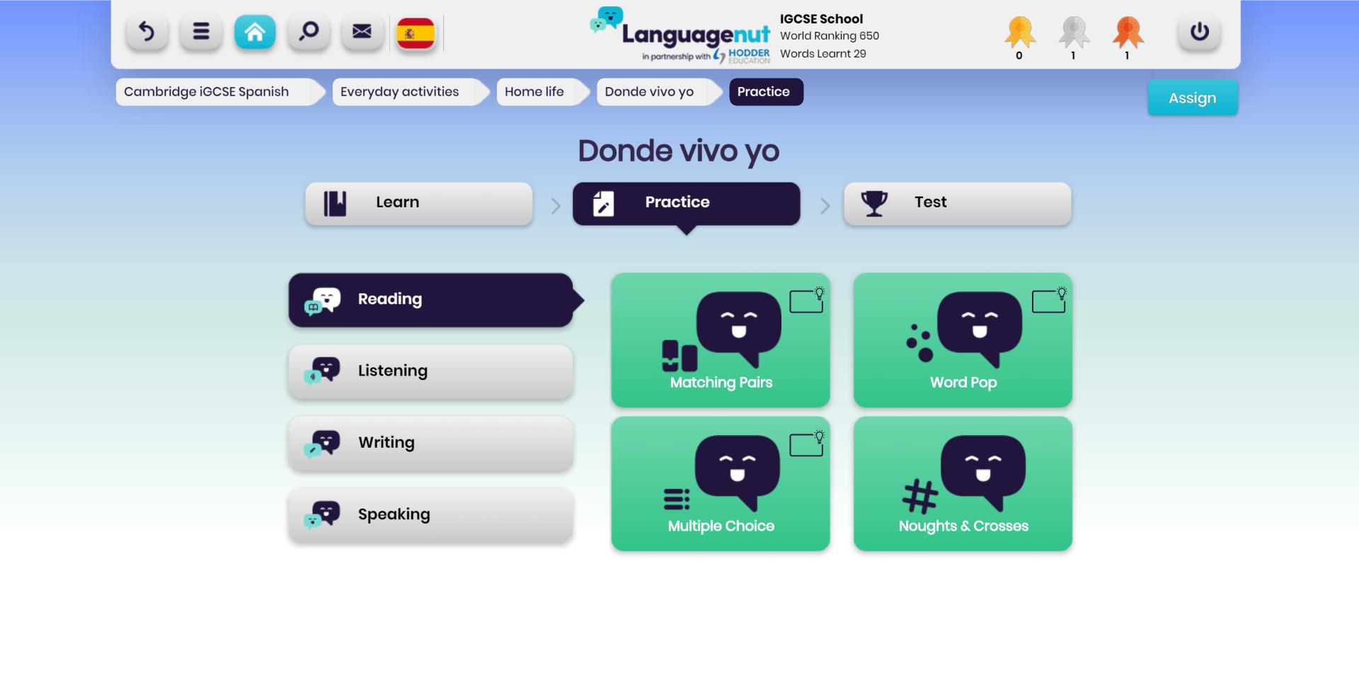 Languagenut IGCSE Four Key Skills