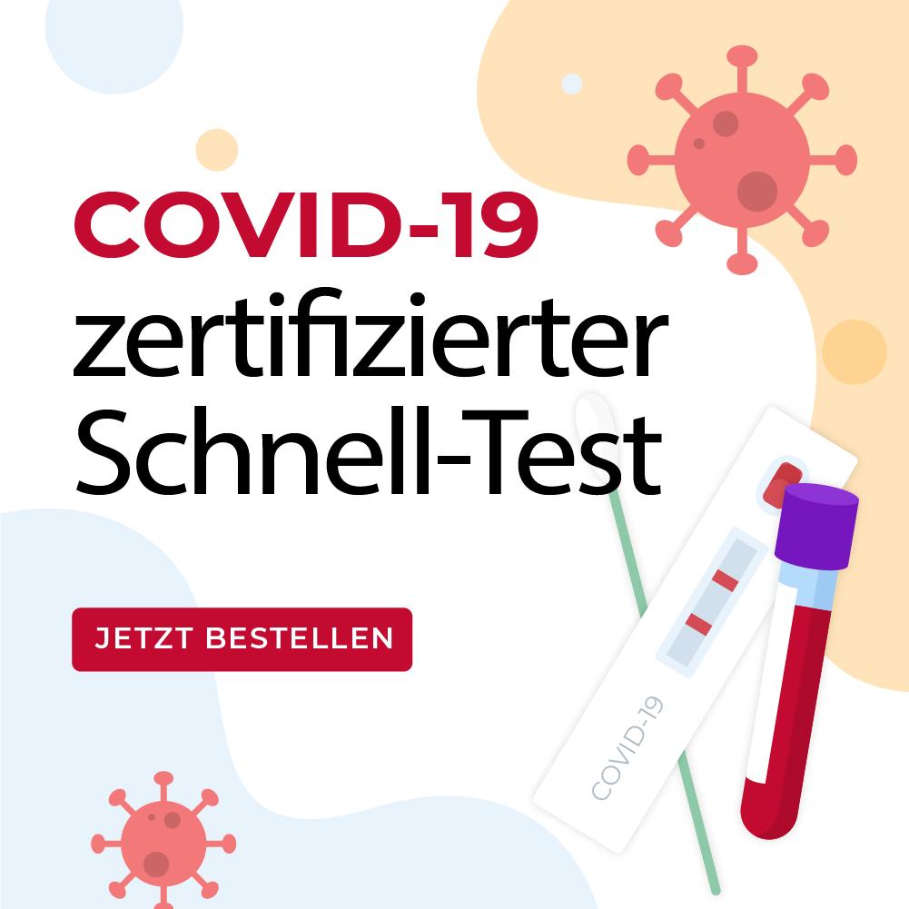 Coronavirus Antigen Selbsttest für Laien (vorderer Nasenbereich)