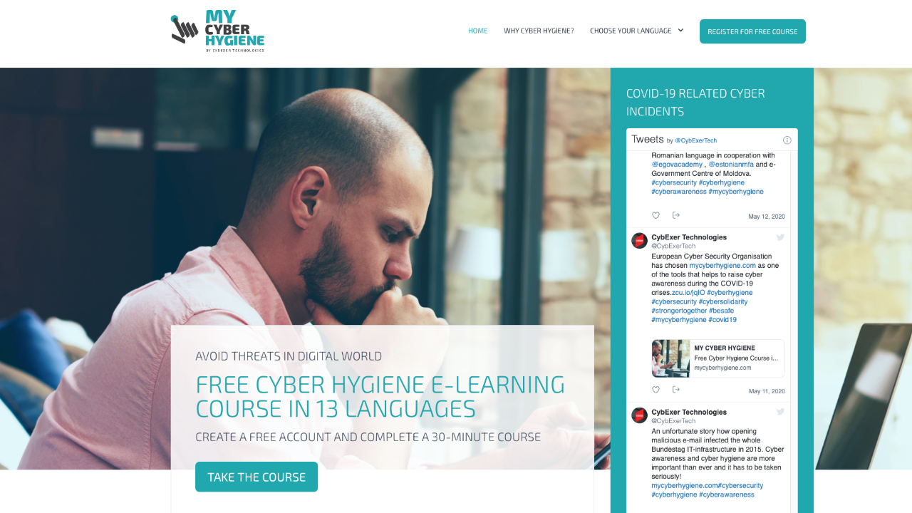Cybexer Technologies started mycyberhygiene.com free e-learning course