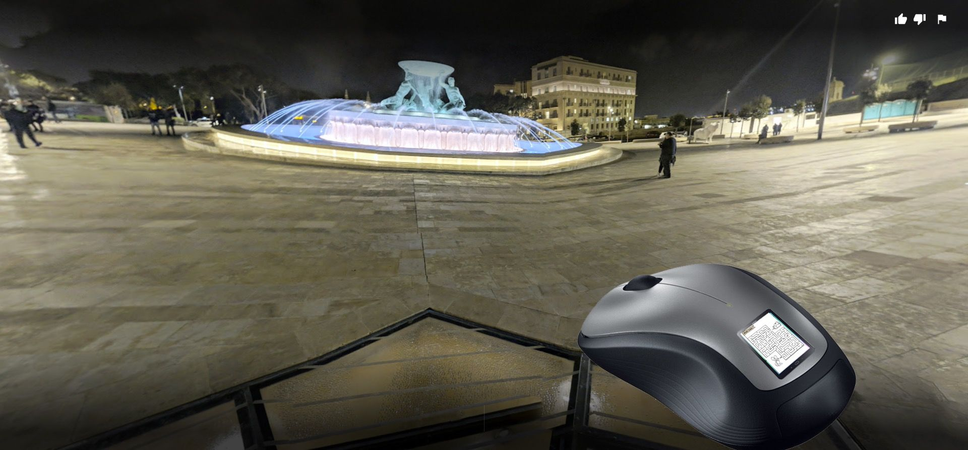 An artist's impression of the giant mouse at Triton Square in Valletta
