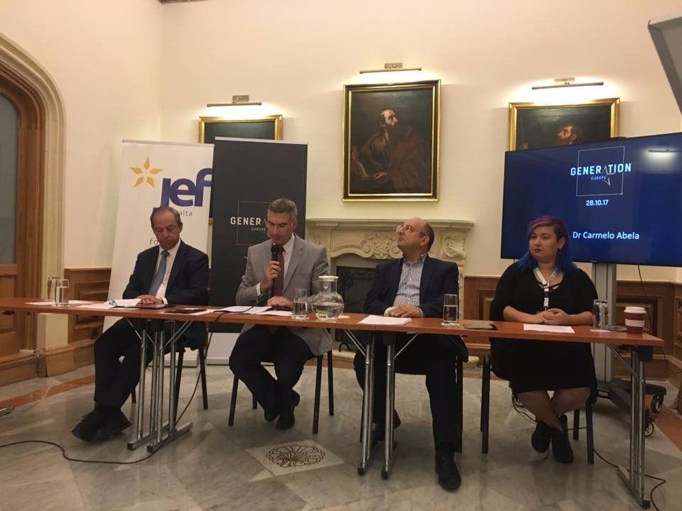 Jef Malta's debate at Palazzo Parisio, Valletta