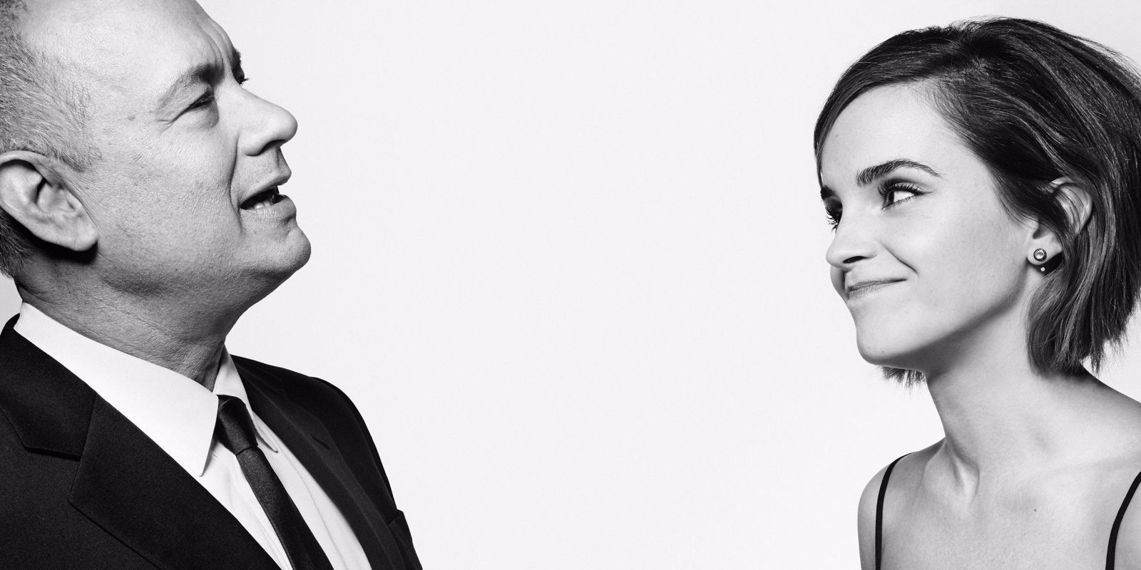 Actors Tom Hanks and Emma Watson from their photoshoot for Esquire UK Magazine (March 2016) where they discussed gender equality in an interview promoting their upcoming film The Circle.