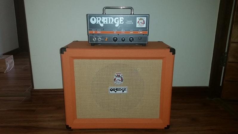 Orange Dark Terror Head And Matching 1x12 Orange Closed Back Cab For