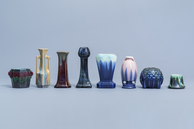 A varied collection polychrome Art Nouveau and Art Deco items, a.o. Thulin, first half of the 20th C.