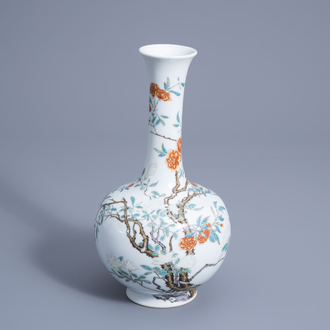 A Chinese fencai vase with blossoming branches, Yongzheng mark, 19th/20th C.