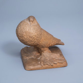 Willy Anthoons (1911-1982): A pigeon, terracotta, ed. 6/15