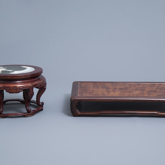 Two Chinese wooden stands, 19th/20th C.