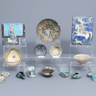A collection of 19 Islamic ceramic wares, 12th C. and later