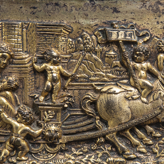 A gilt bronze plaque in the manner of Peter Flötner (1485-1546) with an allegorical representation of 'Fertility', 16th/17th C.