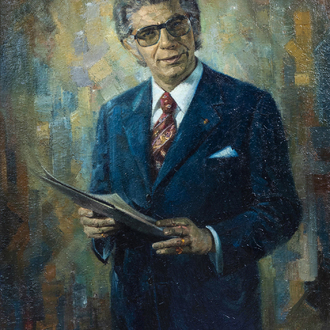 Werner Michiels (1926-2019): Portrait of Willy De Clercq, oil on canvas, dated (19)77