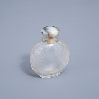 A Chinese rock crystal snuff bottle, 19th C.