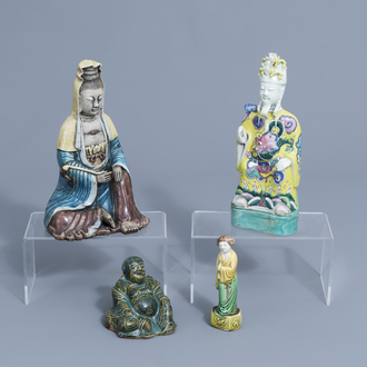 Four Chinese porcelain figures, 18th C. and later