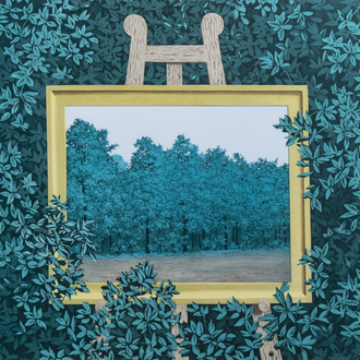 René Magritte (1898-1967, after): 'La Cascade', lithograph in colours, ed. 230/300, dated 2003