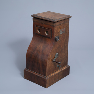 A French wooden diocinescope or film viewer, ca. 1900