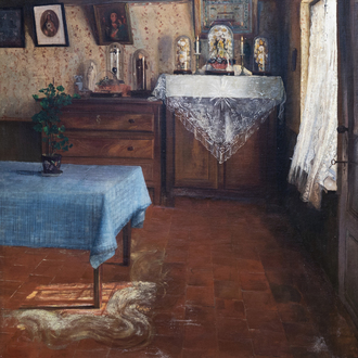 Valerius De Saedeleer (1867-1941): Interior on a sunny day, oil on canvas