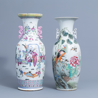Two various Chinese famille rose vases, 19th/20th C.