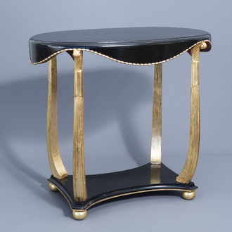 A French lacquered and gilt wood side table, Maurice Dufrene (1876-1955), La Maitrise/Galeries Lafayette, 1930's