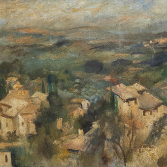 Yvonne Perin (1905-1967): Landscape in the Provence, oil on canvas