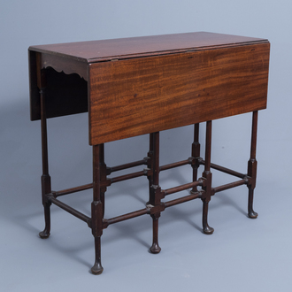 An English George III mahogany spider-leg table by Thomas Chippendale (1718-1779), third quarter of the 18th C.