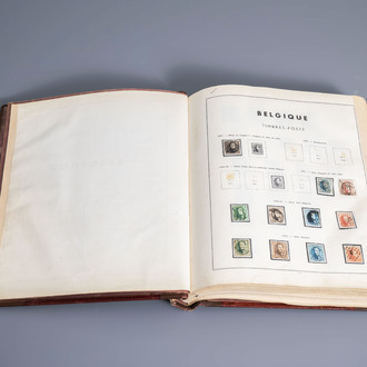 An interesting collection of canceled Belgian stamps, 1849-1961