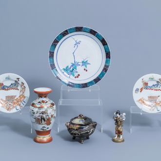 A varied collection of Japanese Imari and polychrome porcelain, Meiji and later, 19th/20th C.