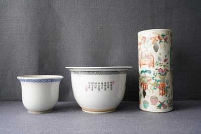 A varied collection of Chinese famille rose porcelain, 19/20th C.