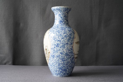 A Chinese famille rose vase, Qianlong mark, Republic, 20th C.