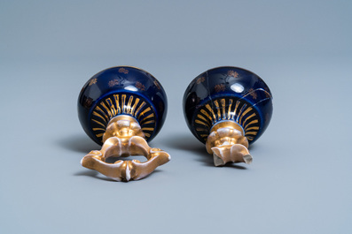 A pair of Sèvres-style vases and covers, prob. Samson, Paris, 19th C.