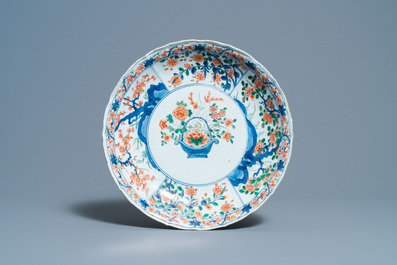 Two Chinese famille verte dishes, Kangxi