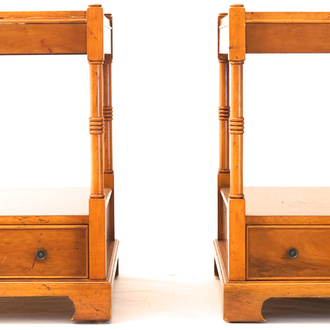 A pair of English sidetables, 19th C.