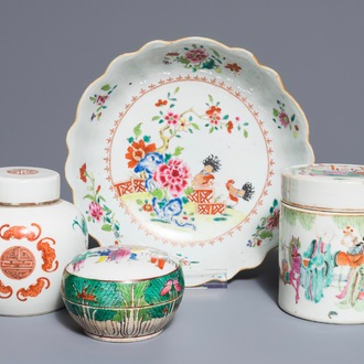 A various collection Chinese famille rose porcelain, 18/19th C.